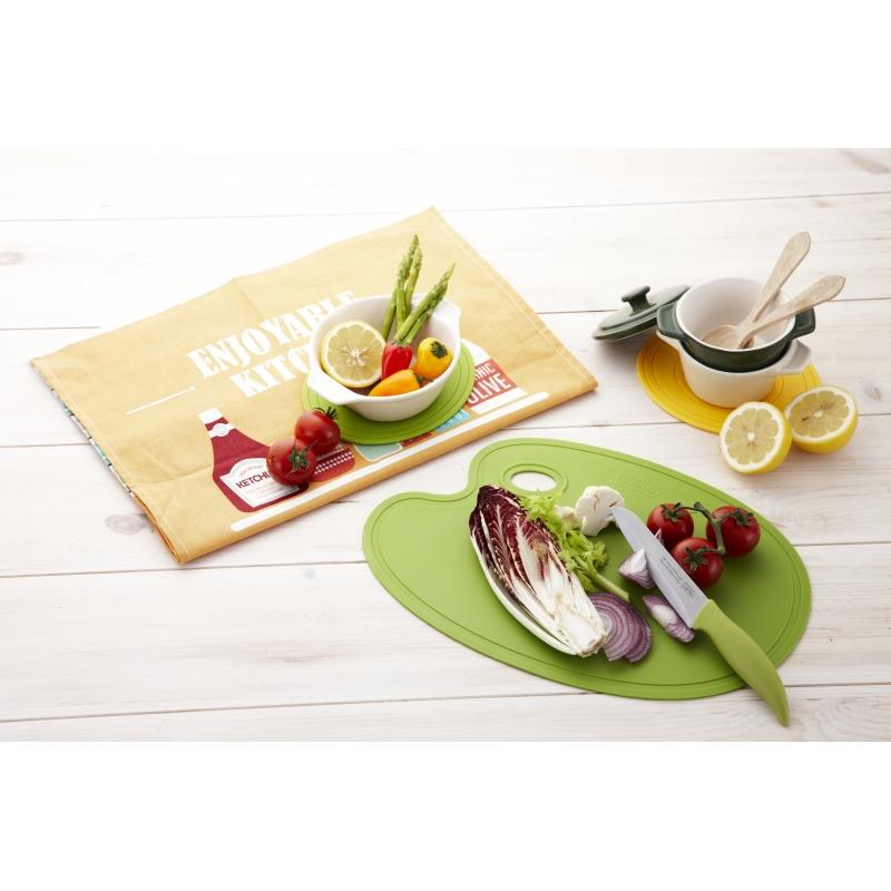 food palette schneidbrett gr n 380 x 265 x 2mm 17 50. Black Bedroom Furniture Sets. Home Design Ideas