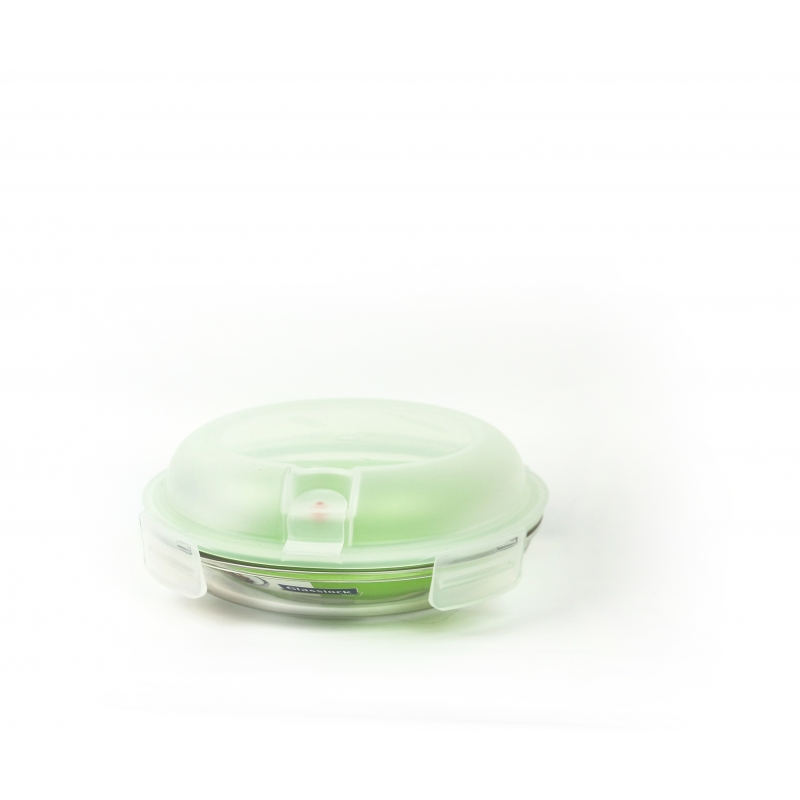 Glasslock Food Container Set Air Type Round Plus, 800ml (MPCB 080A)