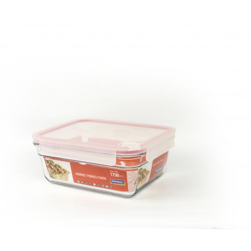 Glasslock Food Container Air Type Rectangular, 1730ml (OCRT 173A)