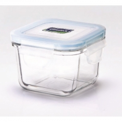 Replacement lid, square 210ml, transparent blue (MCSB-021)