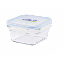 Replacement lid, square 400ml, transparent blue (OCST-040)