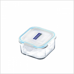 Replacement lid, square 490ml, transparent/blue (MCSB-049)