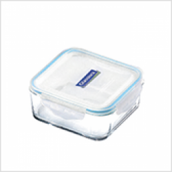 Replacement lid, square 900ml, transparent/blue (MCSB-090)