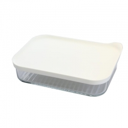 Glasslock Freezer rectangular, white 1050ml (MCRB-113F-W)