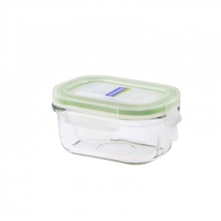 Replacement lid, rectangular 150ml, transparent green (MCRB-015)