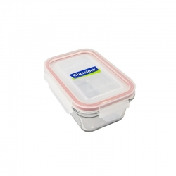 Replacement lid, rectangular 480ml, transparent red (OCRT-048)