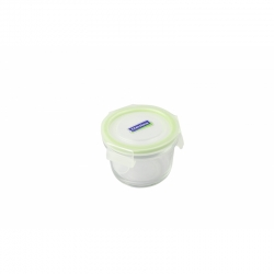 Replacement lid, round 165ml, transparent/green (MCCB-016)
