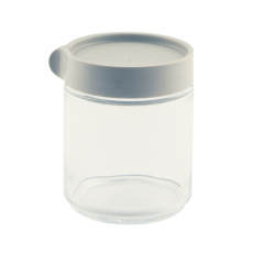 Block Canister round, 400ml grey (IP-607)