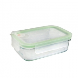Replacement lid, rectangular 400ml, transparent (MCRB-040A)