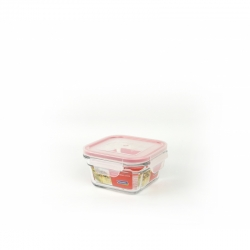 Replacement lid, square 400ml, transparent red  (OCST-040)