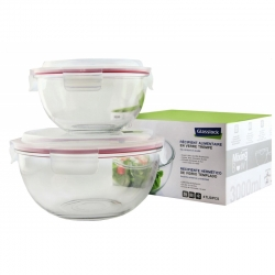 Mixing Bowls Set 2 pcs. 1 x 1000ml, 1 x 2000ml (GL-1211)