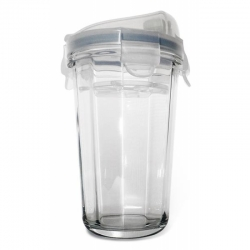 Shaker made of tempered glass, transparent lid, 485ml (RC-105-T)