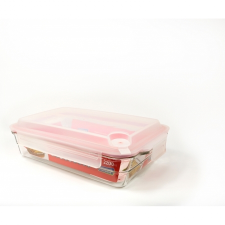 Glasslock Food container Set Air Type rectangular plus, 2200ml (OCRP-220-1A)