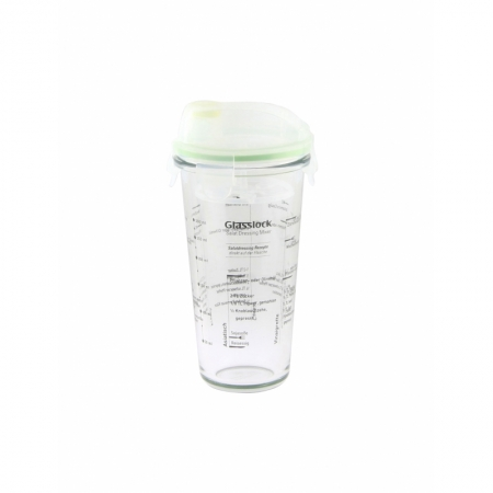 Shaker with Salat-dressing-printings, transparent lid, 450ml (PC-318-SD)