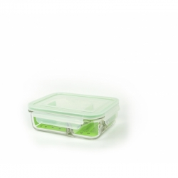 Glasslock Microwave rectangular - Duo type, 920ml (MCRK-092)