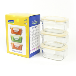 Baby Set rectangular, 3x 150ml (GL-543)