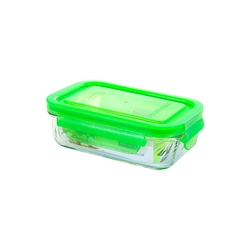 Glasslock Microwave rectangular, color line,400ml...