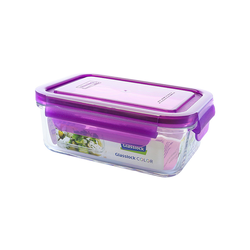 Glasslock Microwave rectangular, color line,715ml...