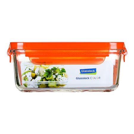 Glasslock Microwave rectangular, color line, 1100ml (MCRB-110-COOR)