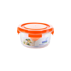 Glasslock Microwave round, color line, 380ml (MCCB-040-COOR)