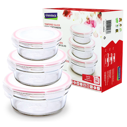 3 pcs Oven Set, round, (GL-531)