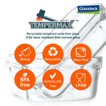 Glasslock Frischhaltedose Air Type, 1100ml (MCRB-110A)