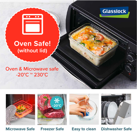 Glasslock Oven Square, 400ml (OCST-040)