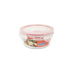 Glasslock Container, oven safe, round, red, 450 ml...